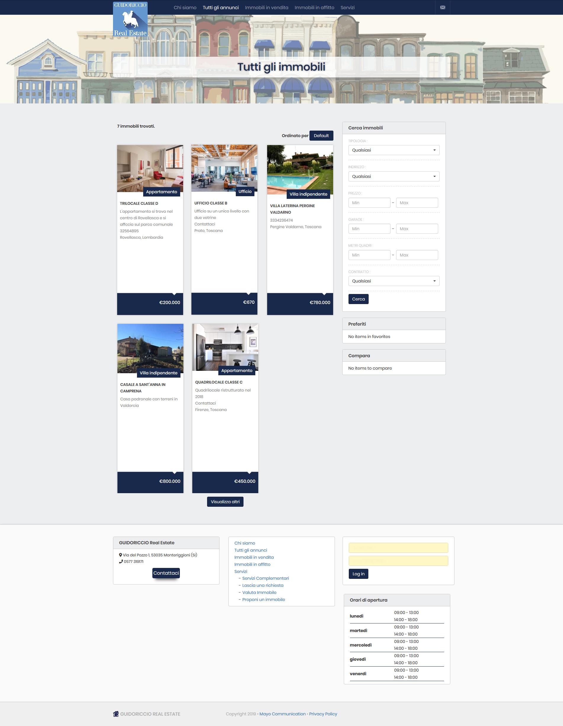 Realizzazione di sito web per agenzia immobiliare